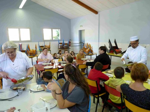 La restauration scolaire, menu de la semaine